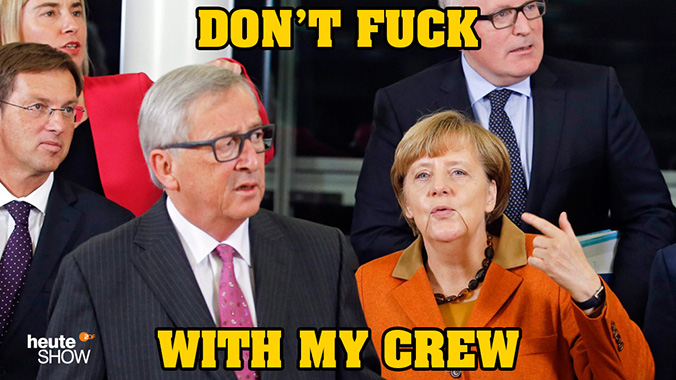 Don't fuck with Merkels crew!