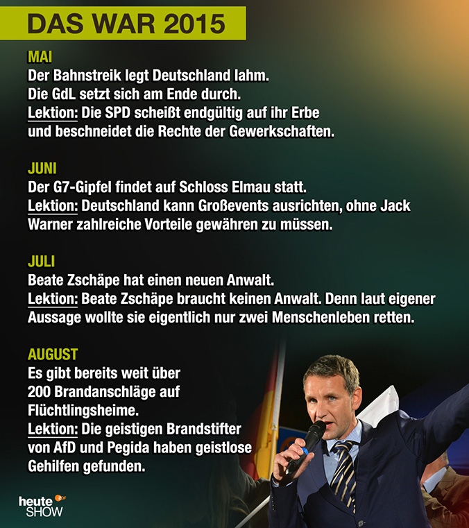 Das war 2015: Mai bis August