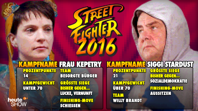 Streetfighter 2016 - Frau Kepetry vs Siggi Stardust. Fight!